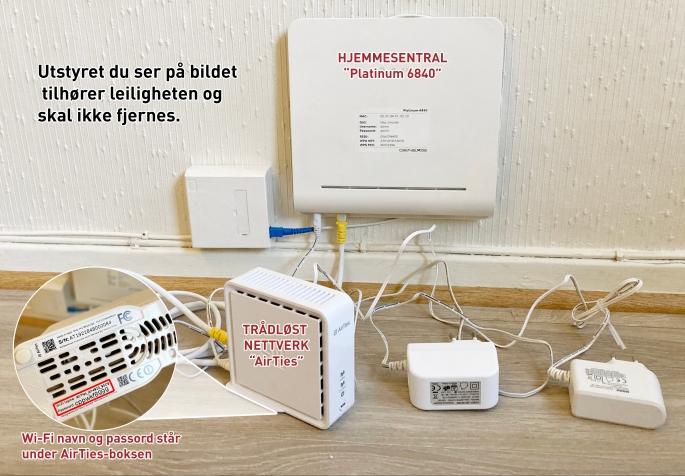 Hjemmesentral og trådløst nettverk